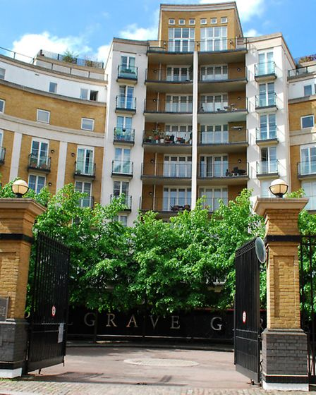 The block in Palgrave Gardens, St John's Wood, where Mukhtar Ablyazov has an apartment. Picture: Pol