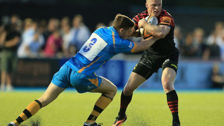 Saracens' Chris Ashton (right) in action against Wasps in the J.P. Morgan Premiership Rugby 7s tourn