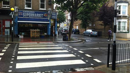 Zebra crossing in Mansfield Road where the man was Tasered