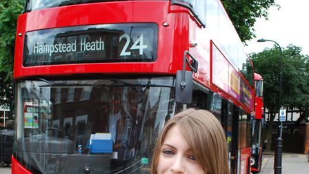 Ham&High reporter Imogen Blake and the 24 bus. Picture: Polly Hancock