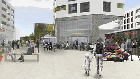 An artist's impression of the proposed Kingsland redevelopment