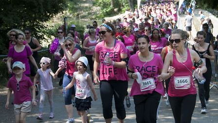 Race for Life on Hampstead Heath. Picture: Nigel Sutton