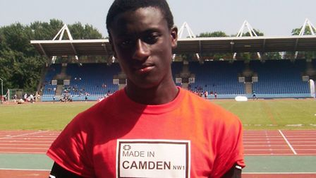 Arnold Mensuoh competes for Highgate Harriers and represented Camden at the London Youth Games