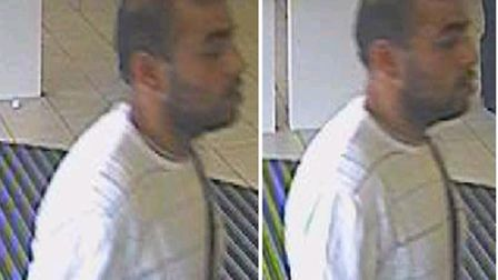 Police are appealing for assistance to identify a man who told staff at Barclays Bank in Swiss Cotta