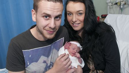Proud parents Jack Henderson and Keely Waller, from Gospel Oak, whose daughter Tallulah shares a bir