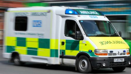 Paramedics were called to the scene of the collision in Golders Green Road, near the junction with F