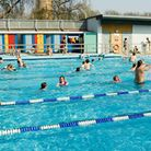 Hackney residents flock to London Fields Lido to cool down