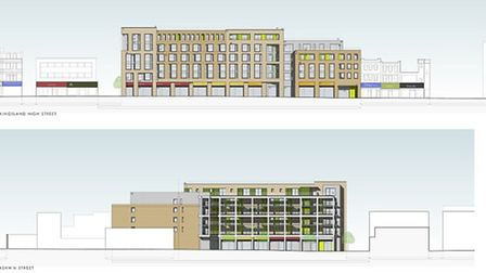These are the proposed plans for a gated development on Kingsland High Street submitted by TfL and d