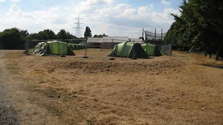 The new campsite, photo courtesy of Save Lea Marshes