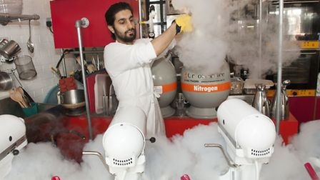 Ahrash Akbari Kalhur, head chef and founder of Chin Chin Labs - which has been named the best ice c