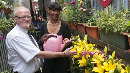 Station supervisors Bernard Bradley and Neeta Patel in the secret garden. Picture: Nigel Sutton.