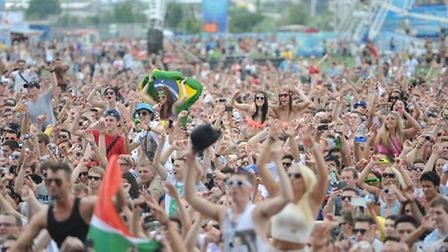 The Electric Daisy Carnival in the Olympic Park