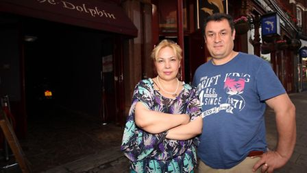 The Dolphin pub owners Nuvit and Yasar Yildiz are devastated that their pub could be closed due to a