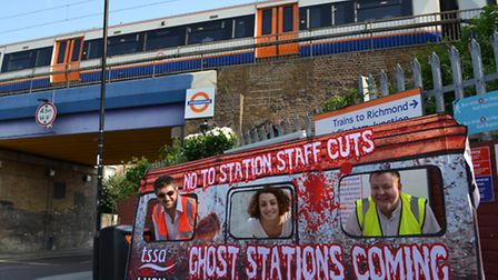 The ghost train protest at Hackney Wick