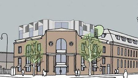 An artist's impression of the old Pizza Express building in Kentish Town Road
