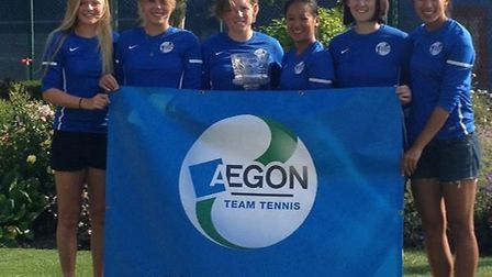 The triumphant Cumberland ladies' team. Left to right: Harriet Dart, Kate Green, Naomi Cavaday, Lena