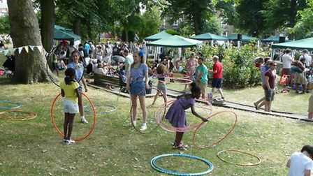 The Party in the Park in De Beauvoir Square