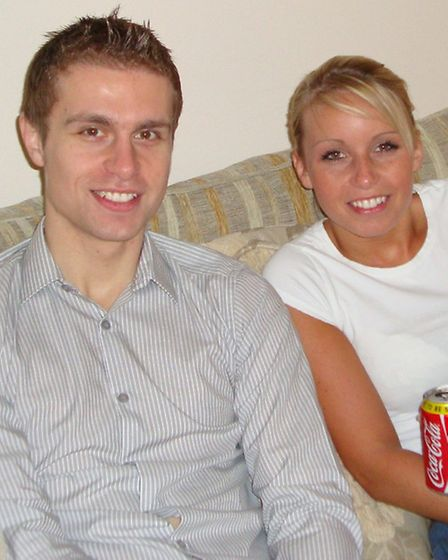 Richard Gent with his sister Lindsay.