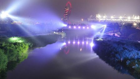 The River Lea before the fluorescein dye was poured in
