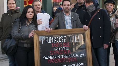 Cowshed could be moving into the shop rented by Phil Cowan (centre), who ran a No Chains in Primrose