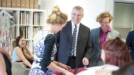 Prince Andrew at the official opening of The Trampery