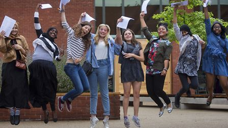 Clapton Girls' Academy in Clalpton celebrate their best-ever GCSE results
