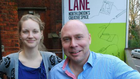 Katie Boon, education officer, and Stuart Cox, participation manager, at Jacksons Lane Arts Centre.