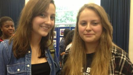 Twins Zuzanna and Natalia Bus from La Sainte Union, who got 23 A*s and As between them