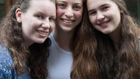 South Hampstead High School pupils, from left to right: Katie Mennis, Bella Carrington and Alicia Ka