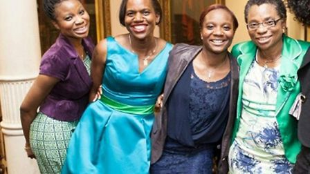 Mary Idowu (far right) is pictured with her daughters Elizabeth Idowu, Sarah Murray and Julie Idowu