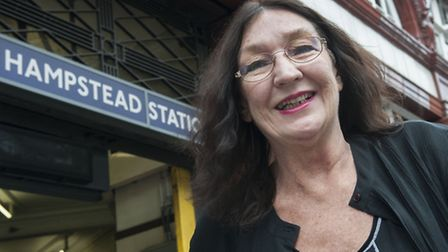 Michele Oberst returned to Hampstead Tube station to thank staff. Picture: Nigel Sutton