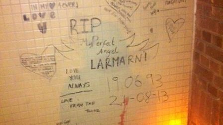 Tributes have been left outside Lamarni's home in Clapton