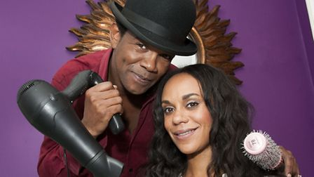 Inventor Tony Waithe pictured with model Lorna Rhodes. Picture: Nigel Sutton
