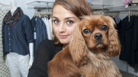 Cherry Brearley and Brody pictured at Press of Primrose Hill boutique. Picture: Nigel Sutton