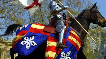 Get your child to dress up as a knight for some mediaeval fun on Friday. Picture: Fiona Hanson