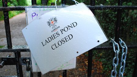 The ladies' pond will be closed while police carry out an investigation. Picture: Polly Hancock