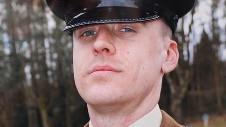 A photo of soldier Phil Scott at the Infantry Training Centre, Catterick Garrison, North Yorkshire.