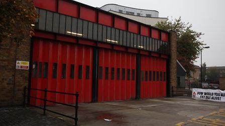 One of two fire pump have been removed from Kingsland fire station (pictured) and Shoreditch fire st