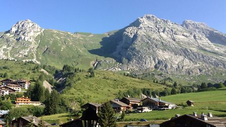 The view from the chalet in Le Chinaillon