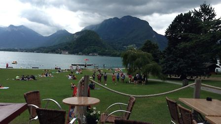 Lake Annecy from Talloires park