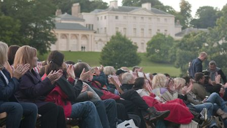 Crowds enjoy the picnic concerts at Kenwood House. Picture: Richard Twilton