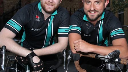 Rory Watts,right, and Oliver Long are doing a 1,100 cycle ride in the US to raise money for charity.