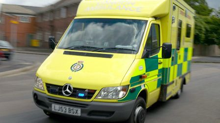 The 20-year-old was taken to Newham General with leg injuries