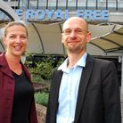 Fran Gertler, head of integrated care at the Royal Free Hospital, and Andre Knirsch, Royal Voluntary