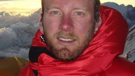 Dr Dan Martin, of the Royal Free Hospital, on Everest during the medical expedition
