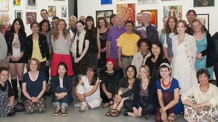 Party for all the artists exhibiting at the Open Art Exhibition Swiss Cottage Gallery