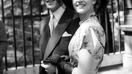 Rona Anderson and Gordon Jackson after their wedding at the Chelsea Register Office in 1951. Picture