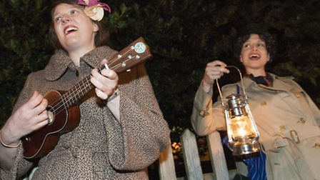 Secret urban storyteller Vanessa Woolf and singer Katy Carr give midnight performance on Hampstead H