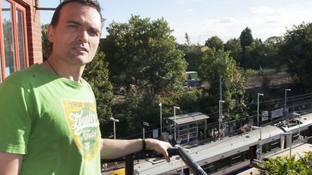 Stephen Jones is fighting to save the trees around the West Hampstead Square development. Picture: N