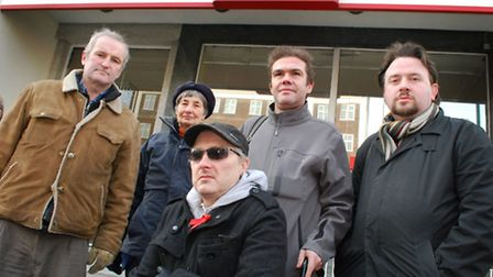 Protestors against the changes to Swiss Cottage Post Office in Finchley Road. Pictue: Polly Hancock
